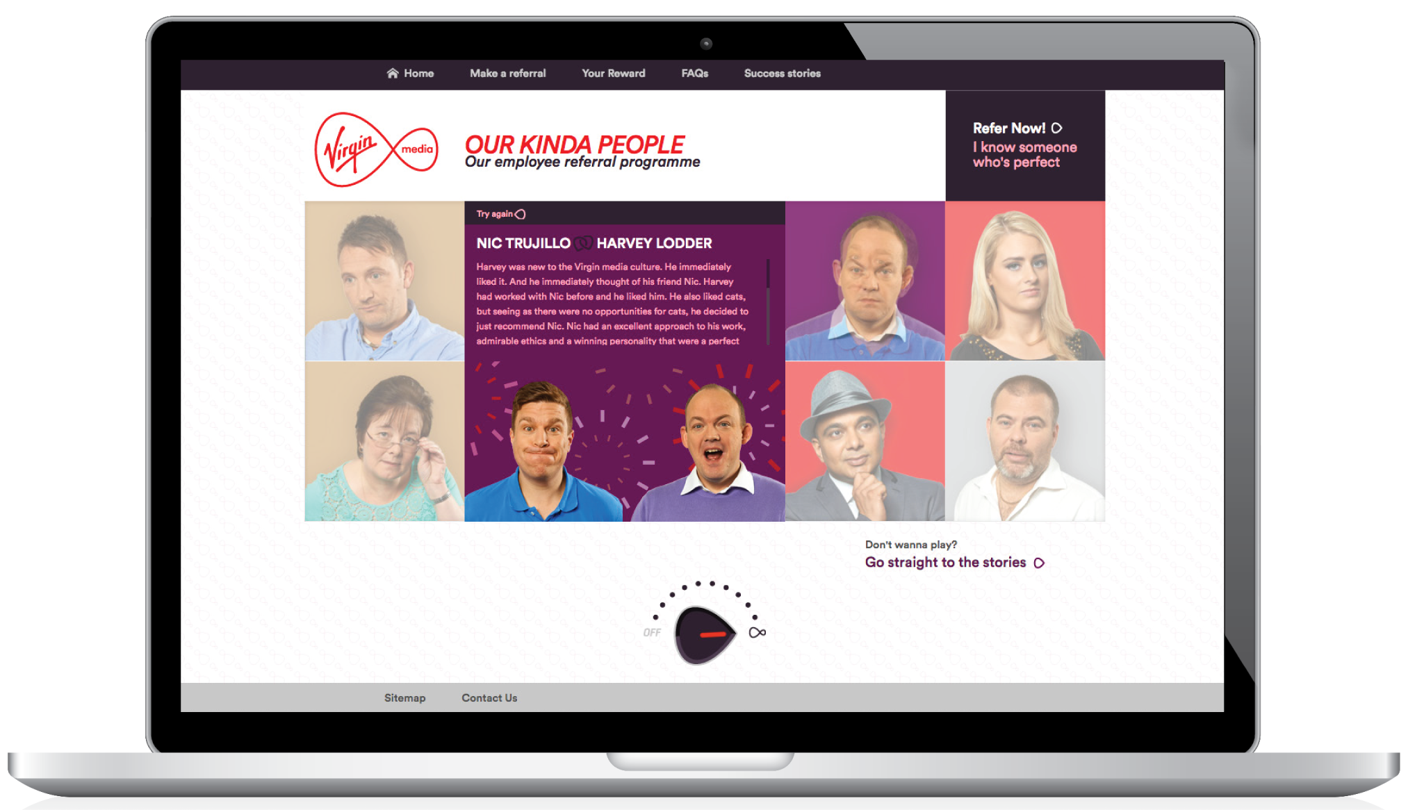 virgin media employee referral program website